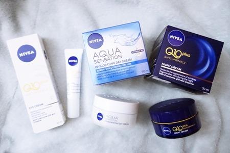錫住荷包⌒゚(❀>◞౪◟<)゚⌒時刻呵護嬌嫩肌膚 ● NIVEA Q10 Plus 抗皺修護系列 ...