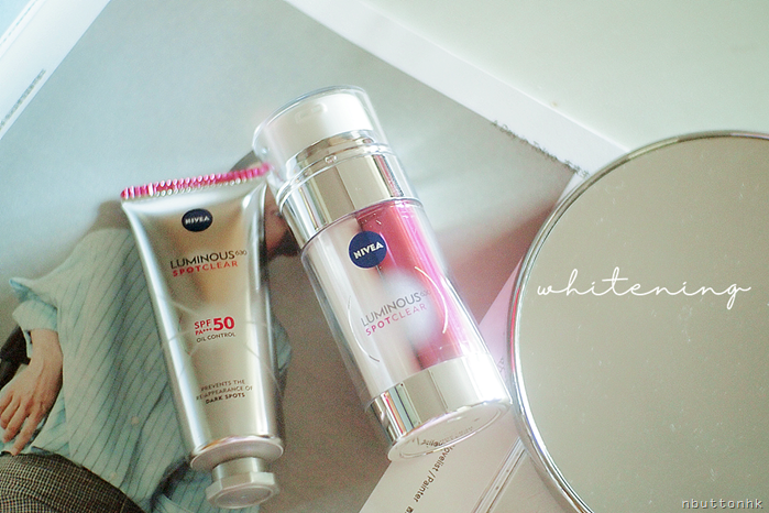 NIVEA 雙效淡斑透白精華及 雙效淡斑防曬修護霜SPF 50